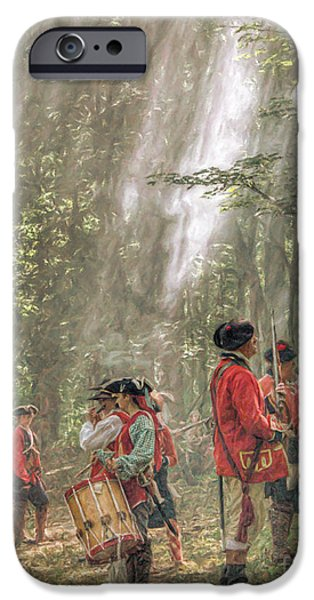 Drums In The Forest Forming For Battle IPhone Case by Randy Steele
