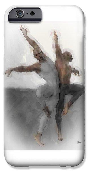 Duo Dancers IPhone Case by Quim Abella