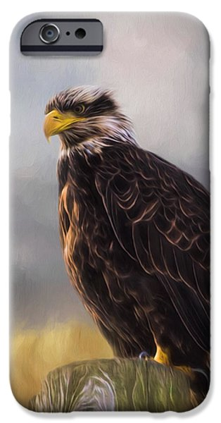Eagle Art - Be Who You Are IPhone Case by Jordan Blackstone