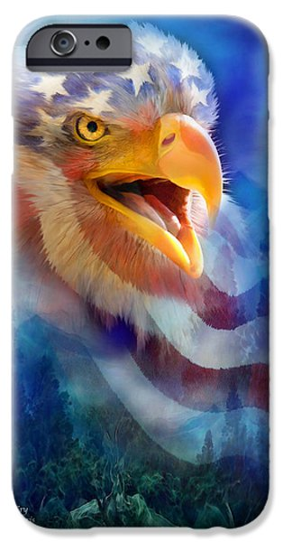 Eagle's Cry IPhone Case by Carol Cavalaris