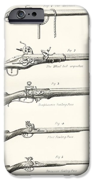 Early Types Of Firearms. 1. The IPhone Case by Vintage Design Pics