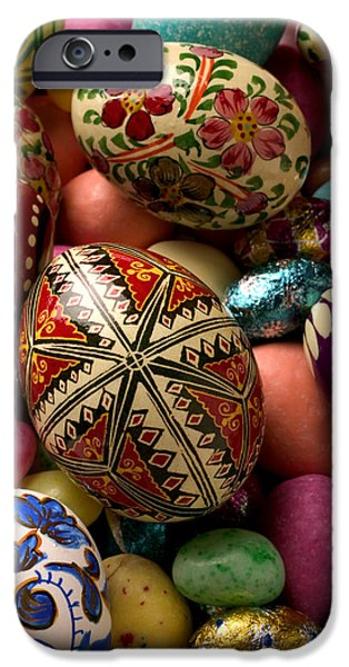 Easter Eggs IPhone Case by Garry Gay