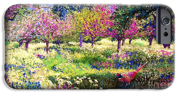 Echoes From Heaven, Spring Orchard Blossom And Pheasant IPhone 6s Case by Jane Small