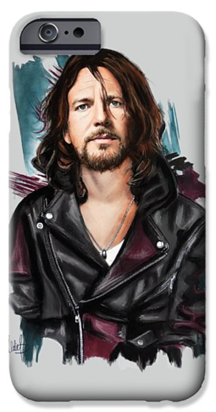 Eddie Vedder IPhone Case by Melanie D