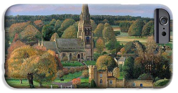 Edensor - Chatsworth Park - Derbyshire IPhone Case by Trevor Neal
