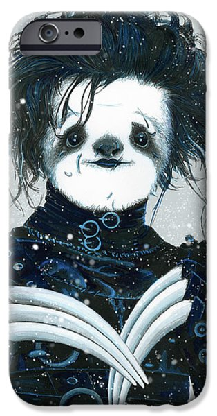 Edward Scissorsloth IPhone Case by Narelle Zeller