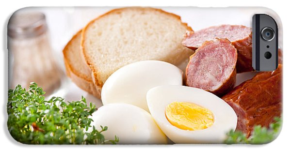 Eggs And Sausage Traditional Easter Food IPhone Case by Arletta Cwalina