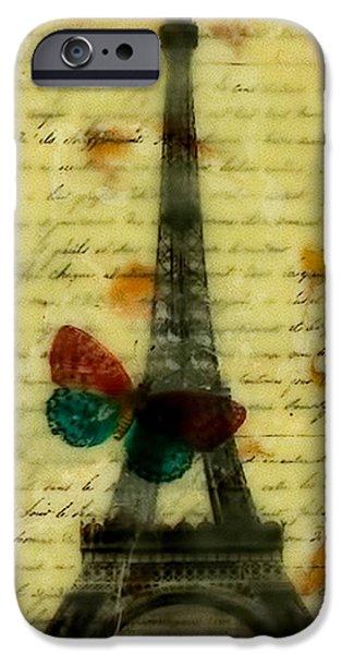 Eiffel Tower Memory Encaustic IPhone Case by Bellesouth Studio
