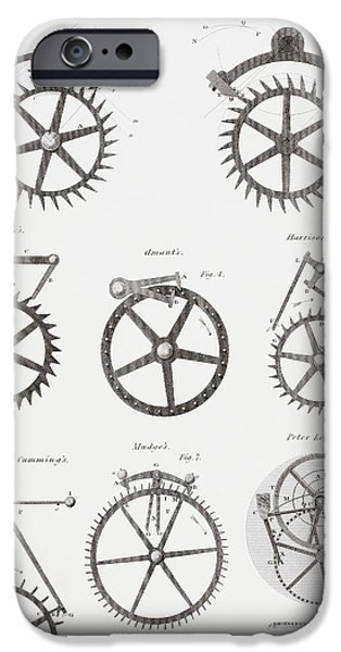 Eight Different Escapement Systems By IPhone Case by Vintage Design Pics