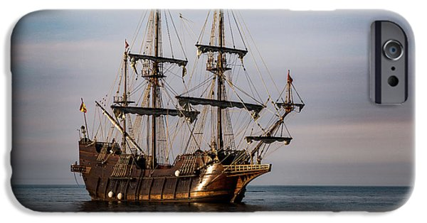 El Galeon Andalucia Tall Ship IPhone Case by Dale Kincaid