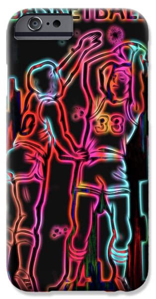 Electric Basketball Poster IPhone Case by Dan Sproul