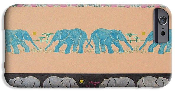Elephant Pattern IPhone 6s Case by John Keaton