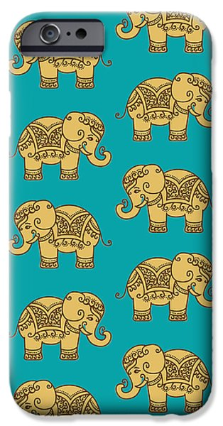 Elephant Pattern IPhone 6s Case by Krishna Kharidehal