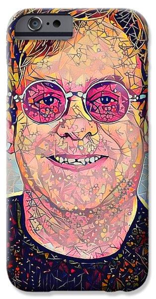 Elton John Triangles Portrait IPhone 6s Case by Yury Malkov