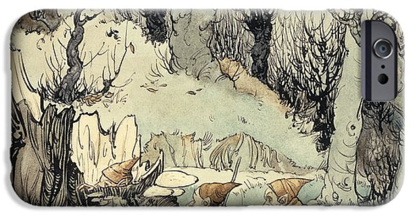 Elves In A Wood IPhone 6s Case by Arthur Rackham