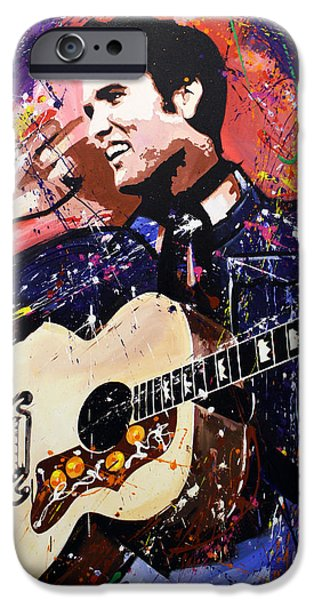 Elvis Presley IPhone Case by Richard Day