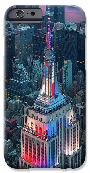 Empire State From Above IPhone Case by Inge Johnsson
