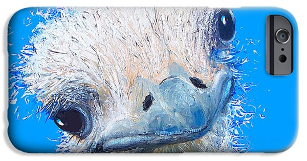 Emu Painting IPhone 6s Case by Jan Matson