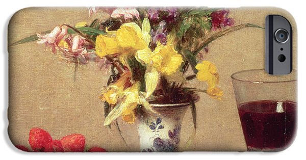 Engagement Bouquet IPhone Case by Ignace Henri Jean Fantin-Latour