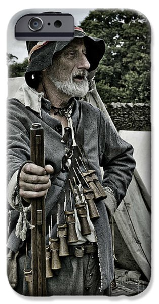 English Civil War Actor 1 IPhone Case by Linsey Williams