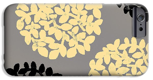 English Garden Retro Flower Pattern IPhone Case by Mindy Sommers