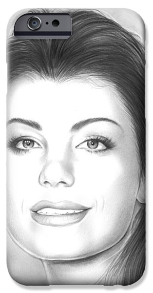 Erica Durance IPhone Case by Greg Joens