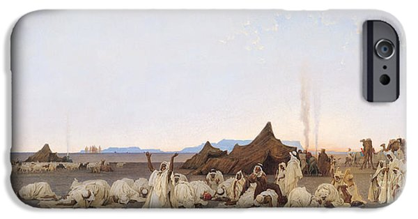 Evening Prayer In The Sahara IPhone Case by Gustave Guillaumet