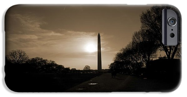 Evening Washington Monument Silhouette IPhone 6s Case by Betsy Knapp