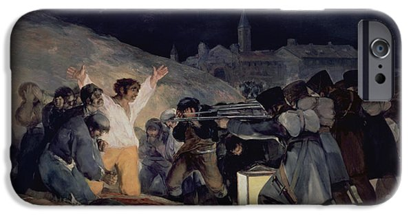 Execution Of The Defenders Of Madrid IPhone Case by Goya