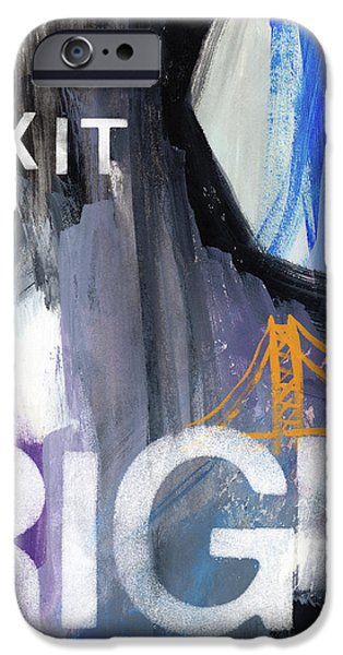 Exit Right- Art By Linda Woods IPhone Case by Linda Woods