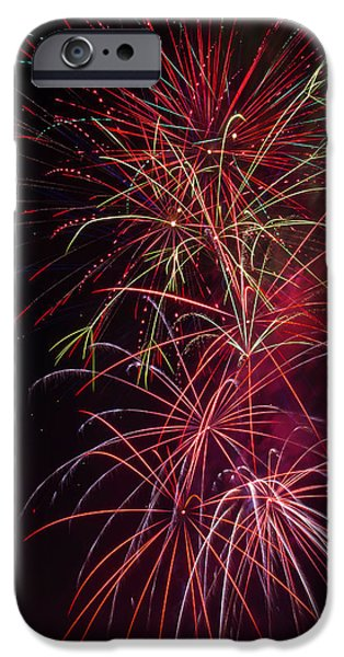 Exploding Festive Fireworks IPhone Case by Garry Gay
