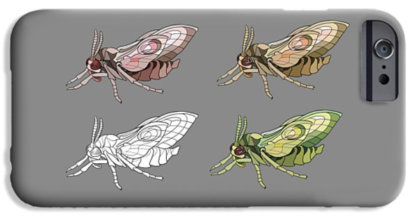 Eyed Hawk-moth IPhone Case by Alexandra Panaiotidi