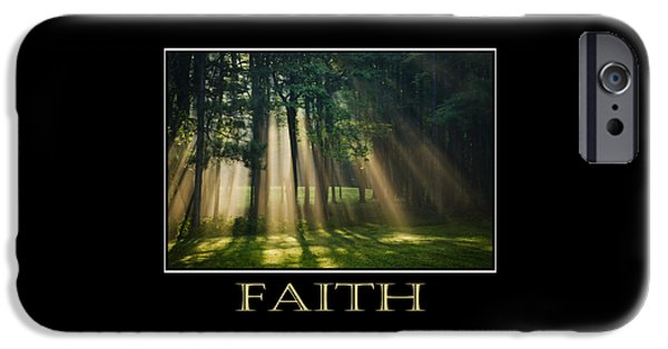 Faith Inspirational Motivational Poster Art IPhone Case by Christina Rollo