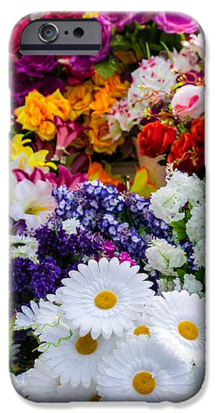 Fake Plastic Flowers IPhone Case by John Williams