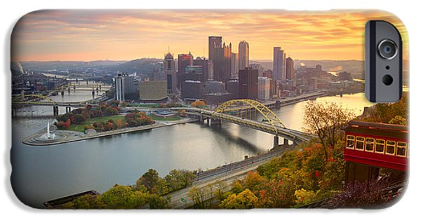 Fall Pittsburgh Skyline  IPhone Case by Emmanuel Panagiotakis