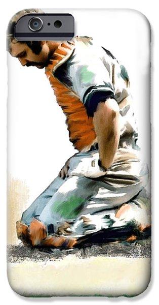 Fallen Captain Ix Thurman Munson IPhone Case by Iconic Images Art Gallery David Pucciarelli