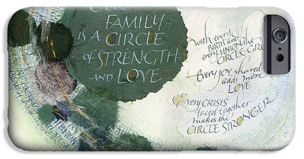 Family Circle IPhone Case by Judy Dodds