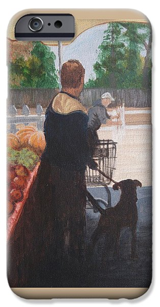 Farm Stand Dog IPhone Case by Donna Rollins