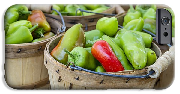 Farmers Market Hot Peppers IPhone Case by Teri Virbickis