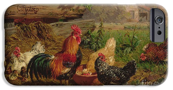 Farmyard Chickens IPhone 6s Case by Carl Jutz