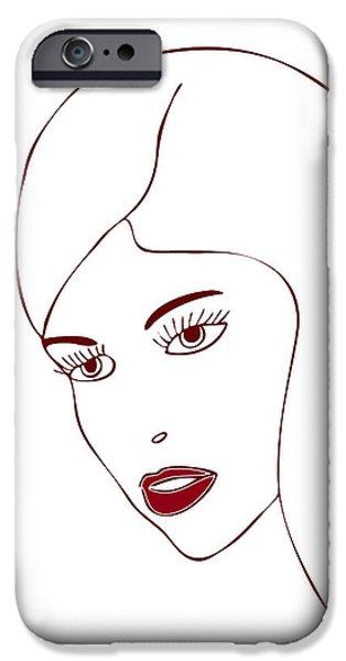 Fashion Model IPhone Case by Frank Tschakert