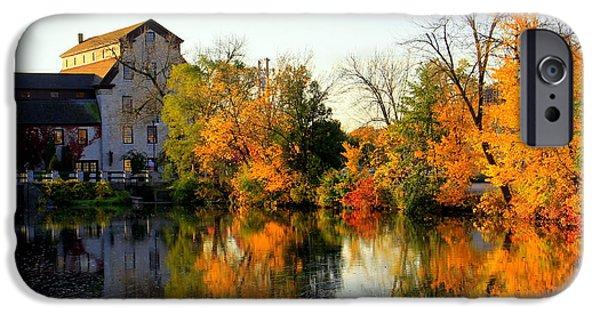 Feed Mill Fall Glow IPhone Case by Carol Komassa