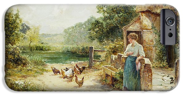 Feeding Time IPhone Case by Ernest Walbourn