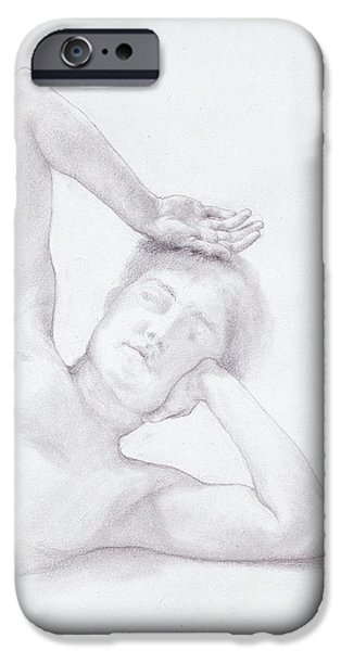 Female Head And Torso IPhone Case by Sir Lawrence Alma-Tadema