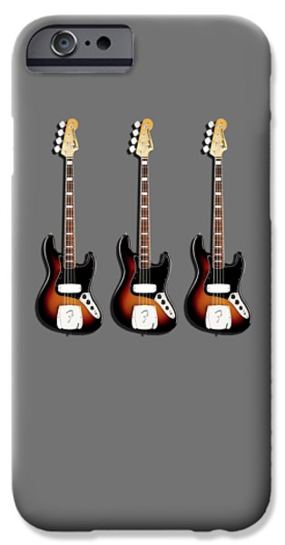 Fender Jazzbass 74 IPhone Case by Mark Rogan
