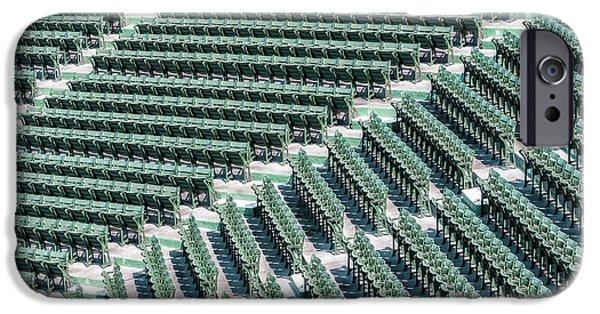 Fenway Park Green Bleachers IPhone Case by Susan Candelario