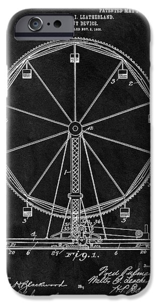 Ferris Wheel Patent IPhone Case by Dan Sproul