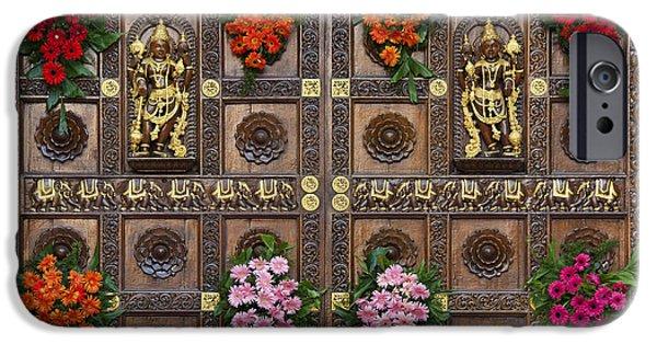 Festival Gopuram Gates IPhone Case by Tim Gainey