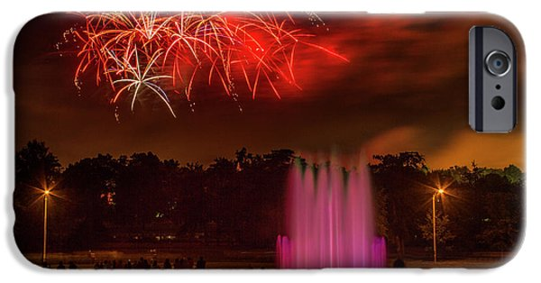 Fair St Louis 4th Of July Fireworks IPhone Case by Garry McMichael