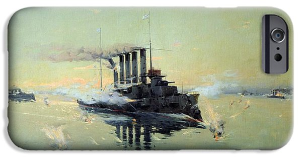 Fighting On July In The Yellow Sea IPhone Case by Konstantin Veshchilov